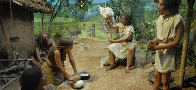 Imaginaire du Néolitithique (Wikimedia)