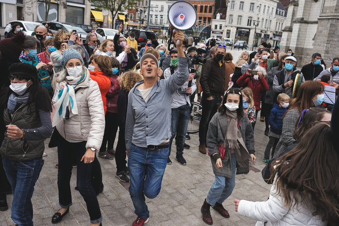 Rassemblement Collectif Citoyen de Tourcoing pour défendre la culture et le lien social, 30 avril 2021 © Jean-Philippe Huguet