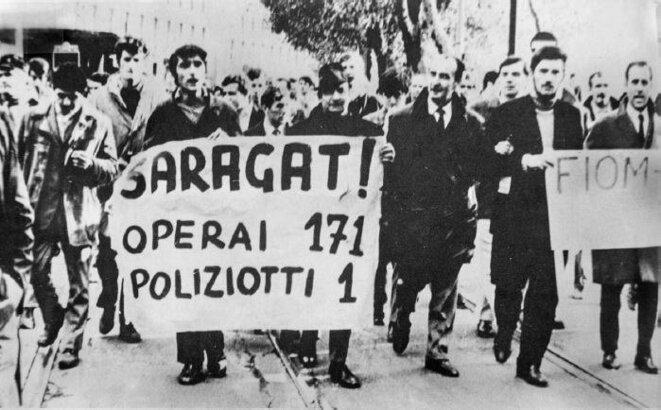 [Président] Saragat : Ouvriers 171 / Policiers 1 © Anonyme