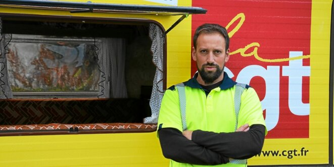 Anthony Valente, employé à la collecte des déchets de Morlaix communauté. © Le Télégramme