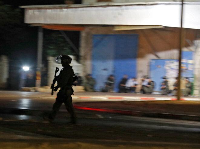 A Lod, au centre d'Israël, le 13 mai 2021. © Ahmad GHARABLI / AFP
