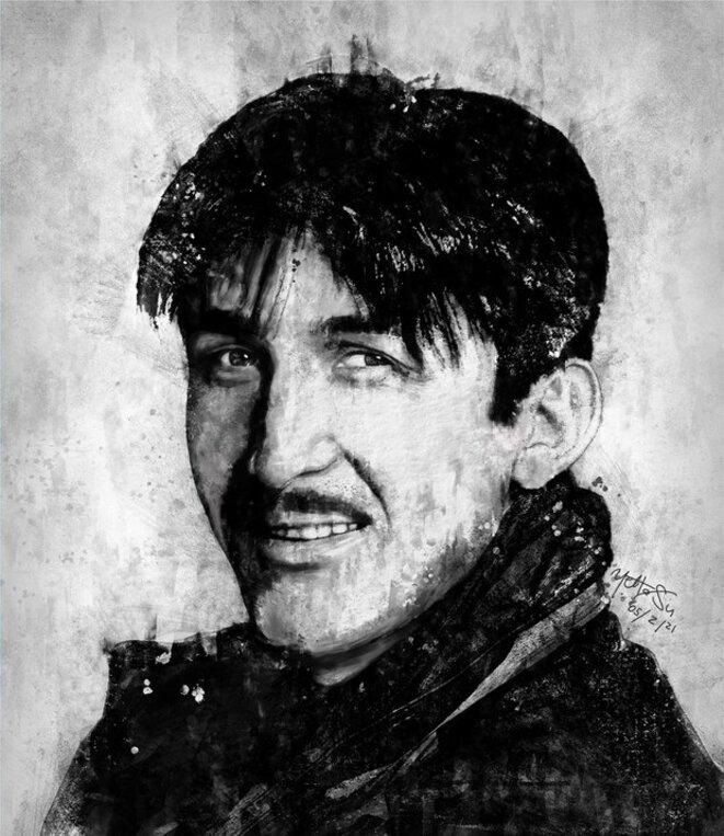 Un portrait d'Ahmetjan Juma.