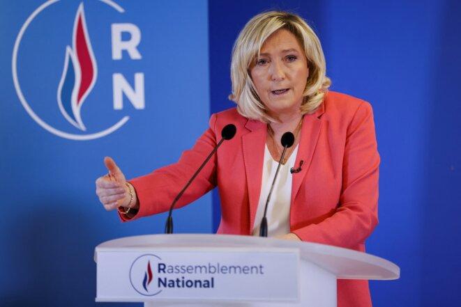 Marine Le Pen, la président du Rassemblement national. © Thomas SAMSON / AFP
