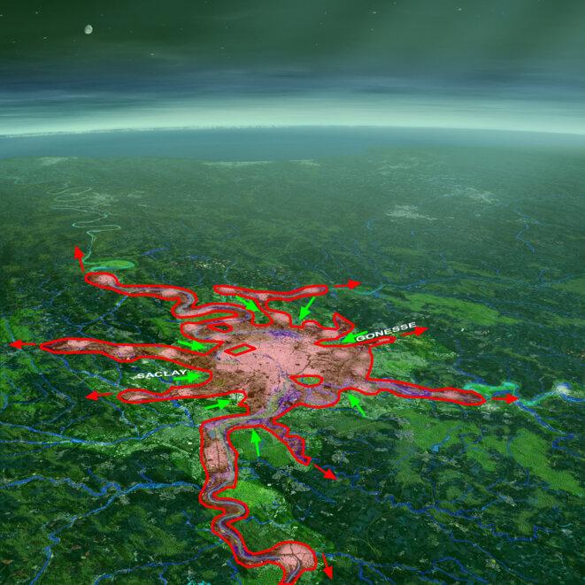 Figure 3 © Cartographie Luc Dupont - fond de plan Atelier LIN