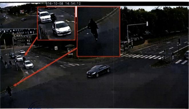 Extrait d'une vidéo de surveillance avant l'attaque. © Document Mediapart