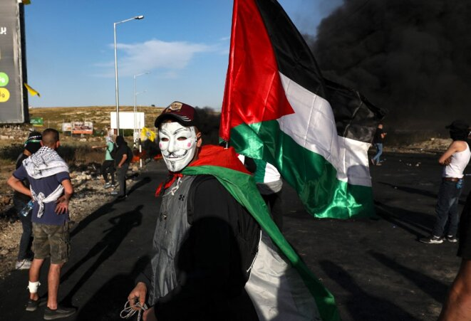 Le 16 mai 2021, non loin de Ramallah. © Abbas Momani/AFP