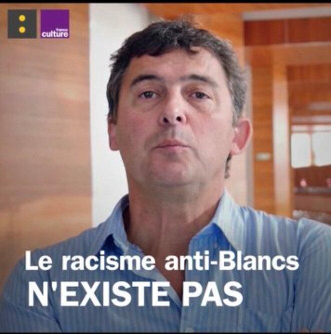 """Eric Fassin: """"Le racisme antiblanc n'existe pas"""""""