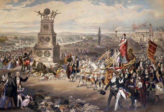 Le Printemps des peuples 1848. Lithographie de Frédéric Sorrieu.