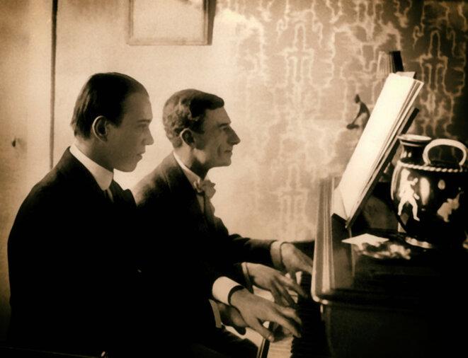 """Ravel et Nijinsky jouant """"Daphnis et Chloé"""" à quatre mains"""