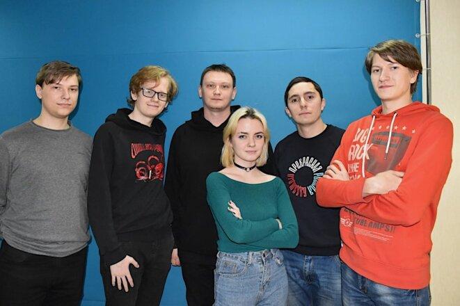 Quelques membres de l'antenne locale de Navalny à Kourgan, à 2 500 km à l'est de Moscou. © JC