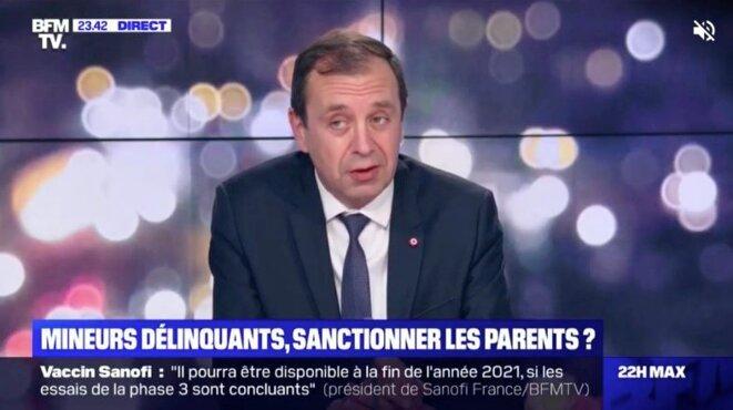 François Jolivet (député LREM) sur le plateau de BFM TV, le lundi 17 mai.
