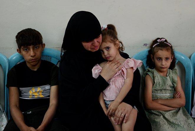 Shahad y sus hijos. © Rachida El Azzouzi