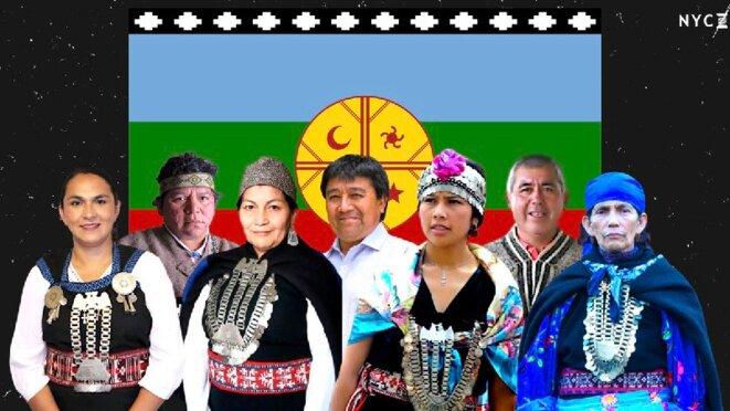 Representants des amérindiens élus à la Convension Constituante au Chili © inconnu