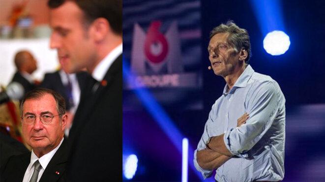 Martin Bouygues et Nicolas de Tavernost. © AFP