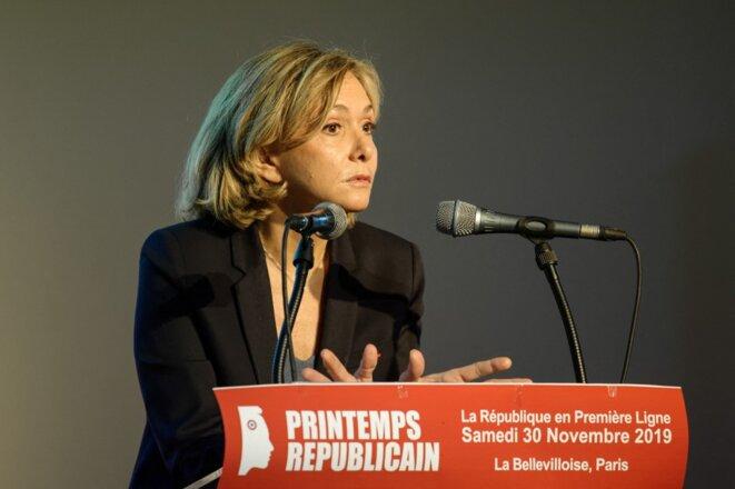 Valérie Pécresse lors d'un meeting du Printemps républicain, en novembre 2019. © Daniel Pier / NurPhoto via AFP