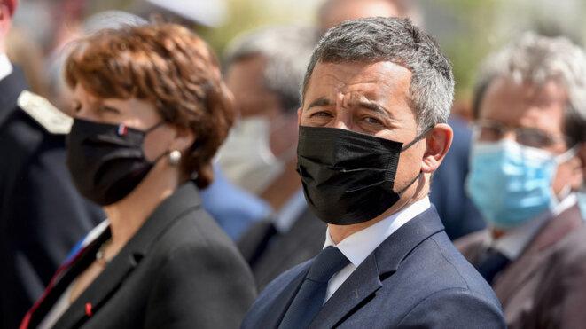 La prise d'otage des syndicats de police en présence de Gérald Darmanin.