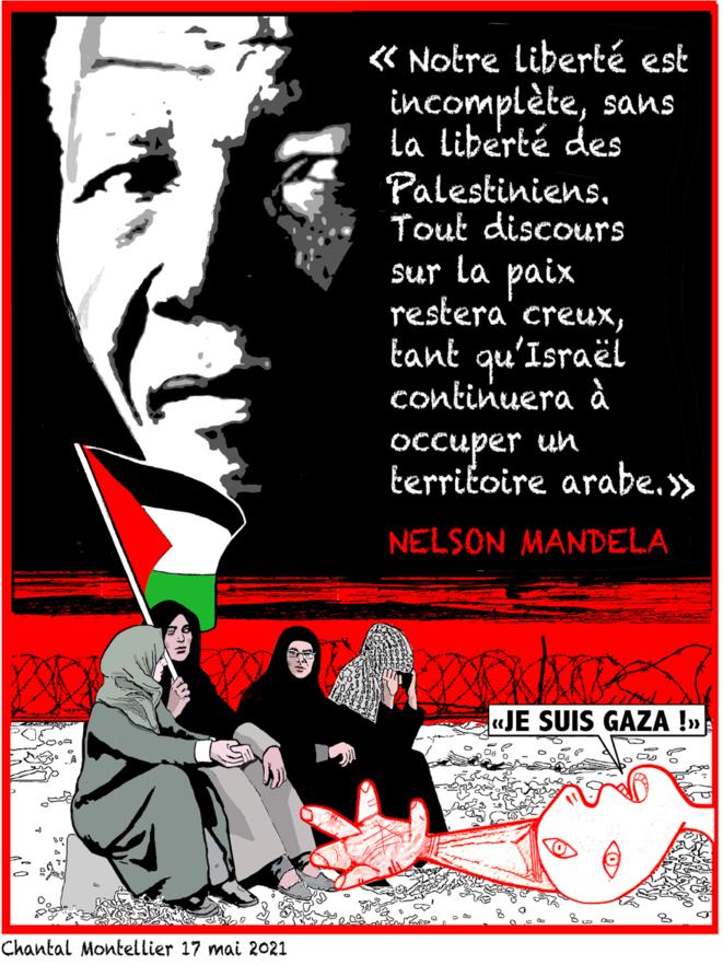 Nelson Mandela, dessin de Chantal Montellier le 17 mai 2021