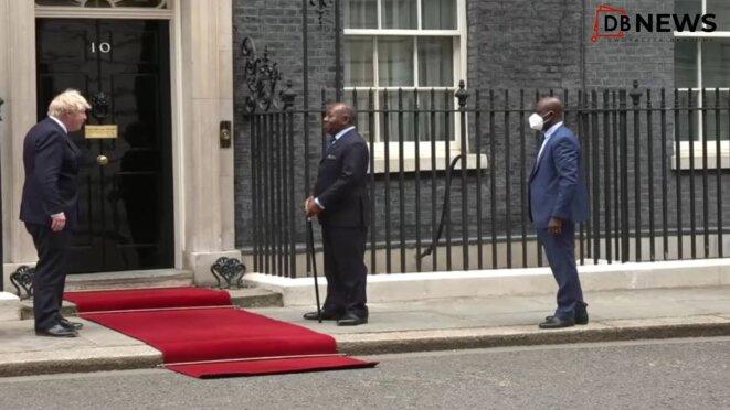 20 mai 2021, Londres, le Président Ali Bongo Ondimba reçu par le premier ministre anglais, Boris Johnson