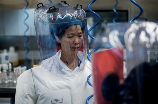 A l'intérieur du laboratoire P4 à Wuhan, la chercheuse Shi Zhengli. © Johannes Eisele / AFP