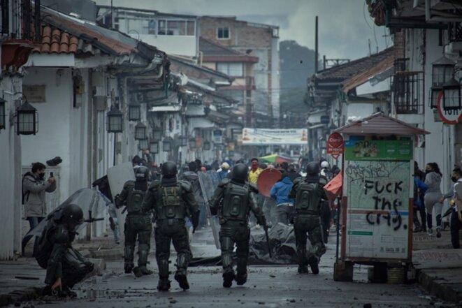 Manifestation à Popayán. Photo Cristian Castro. Portfolio ICI