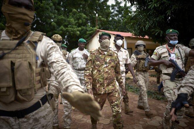 Le colonel Assimi Goïta, le 18 septembre 2000 à Bamako. © Michele Cattani /AFP