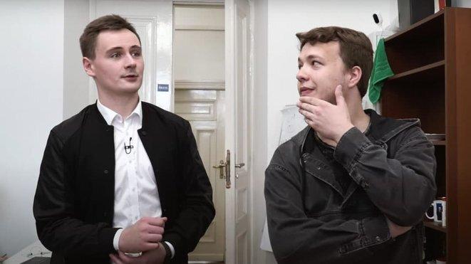Stepan Putilo y Roman Protassevitch. © Captura de pantalla