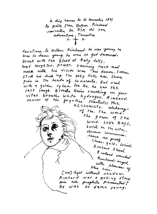 Arthur Rimbaud © Patti Smith