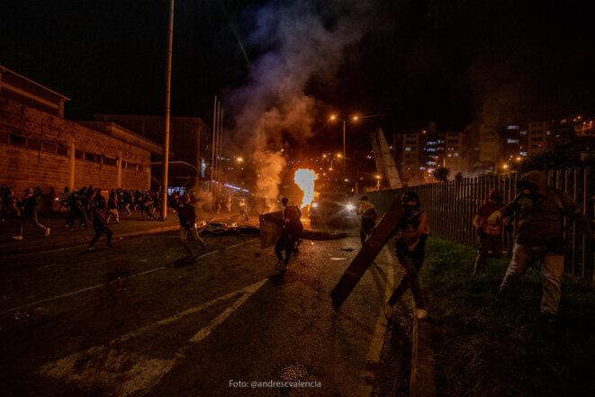 "Manifestation du ""Paro Nacional"", Manizales (département de Caldas), Colombie. © Andres Camilo Valencia"