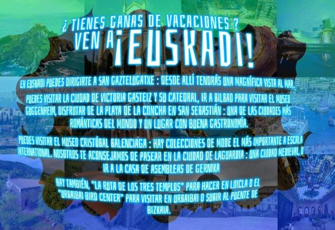 Affiche faite en cours d'espagnol