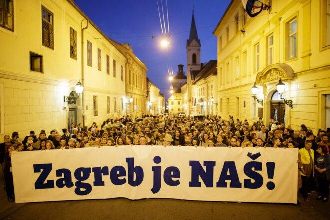 Photo de campagne municipale en 2017 © Zagreb je NAŠ!
