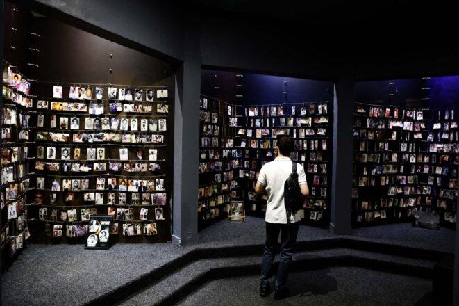 Le mémorial du génocide de Kigali, le 26 mai 2021. © Ludovic Marin/AFP