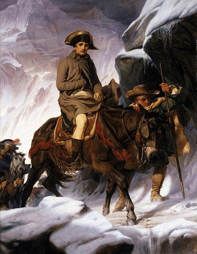 Bonaparte franchissant les Alpes au col du Grand Saint Bernard en 1800, Paul Delaroche, 1848, Musée du Louvre, Paris