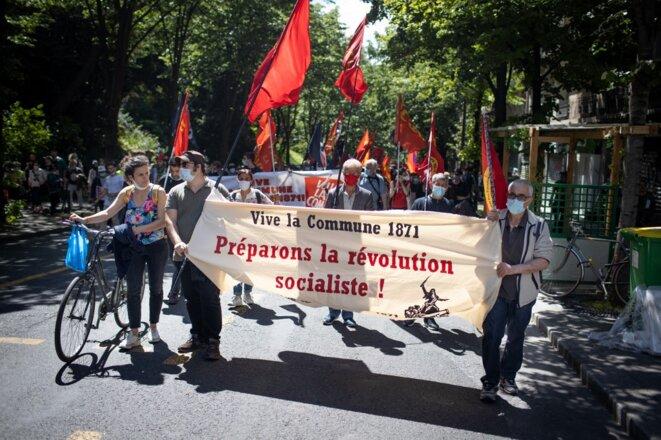 Commémoration des 150 ans de la Communs, à Paris, le 29 mai 2021 © Frédéric Migeon / Hans Lucas via AFP