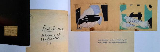 Détail d'une page du scénario de Fait-divers de Claude Autant-Lara