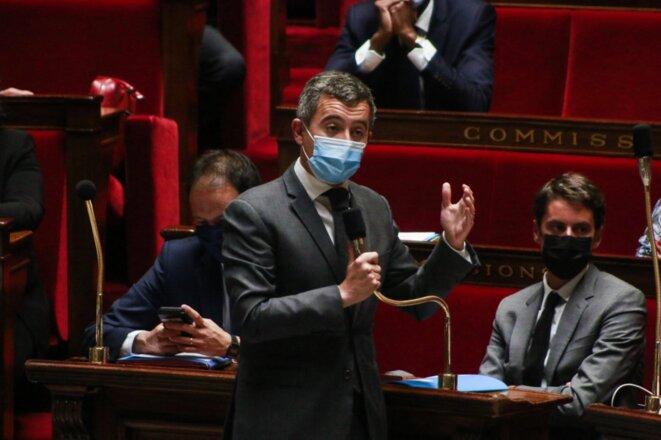 Le ministre de l'intérieur Gérald Darmanin. © Quentin De Groeve / Hans Lucas via AFP