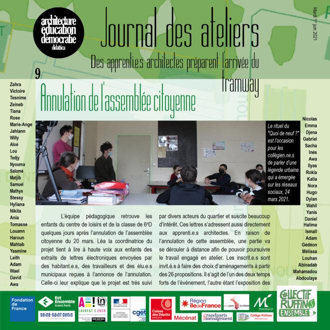 Couverture du numéro 9 du Journal des ateliers © association didattica