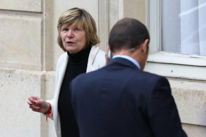 """""""Mimi"""" Marchand photographiée à l'Elysée, le 15 novembre 2017. © Ludovic Marin / AFP"""