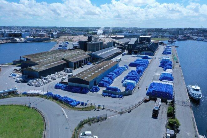 L'usine Timac à Saint-Malo, en juillet 2020. © Damien Meyer / AFP