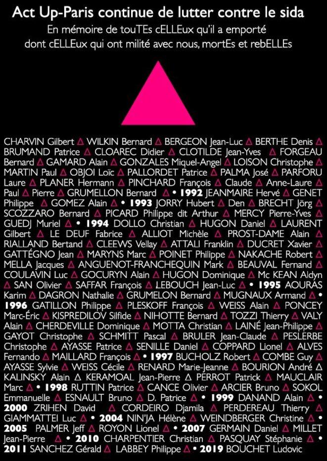 5 juin 2021, Act Up-Paris continue à lutter contre le sida © Act Up-Paris