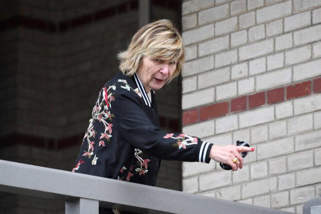Michèle Marchand, dite «Mimi», le 22 avril 2017 au Touquet. © Eric Feferberg / AFP