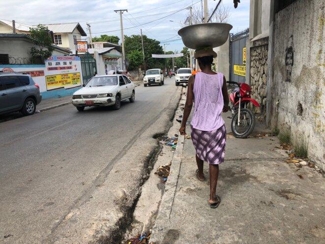 A major road in Port-au-Prince, Haiti, in November 2019. © FB / Mediapart