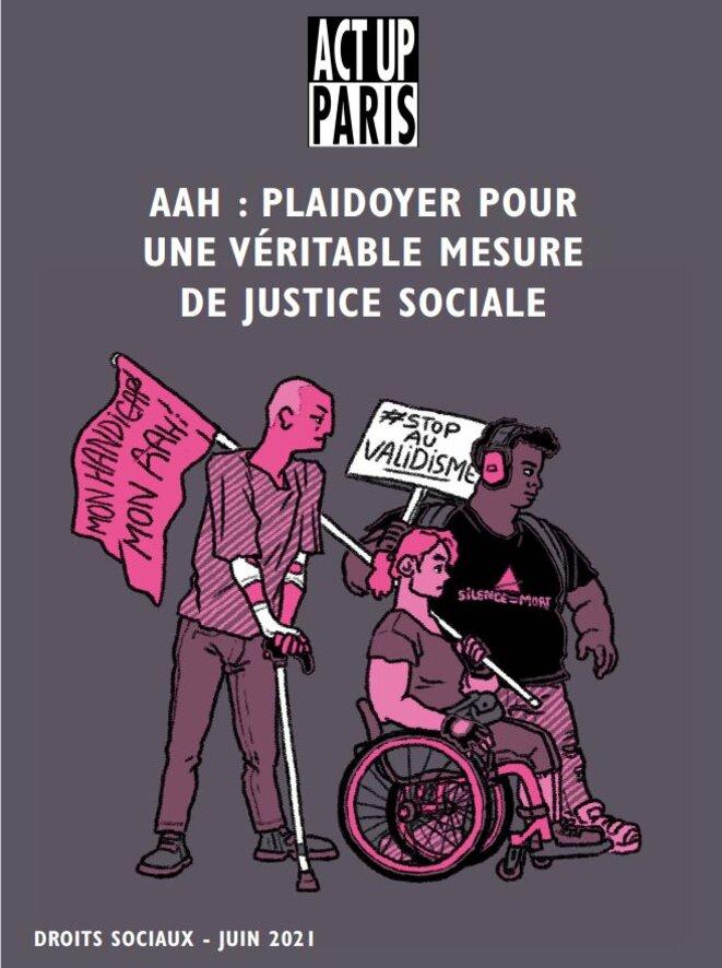 AAH : plaidoyer pour une véritable mesure de justice sociale. Act Up-Paris © Illustration de Gael Mitermite (Citron)