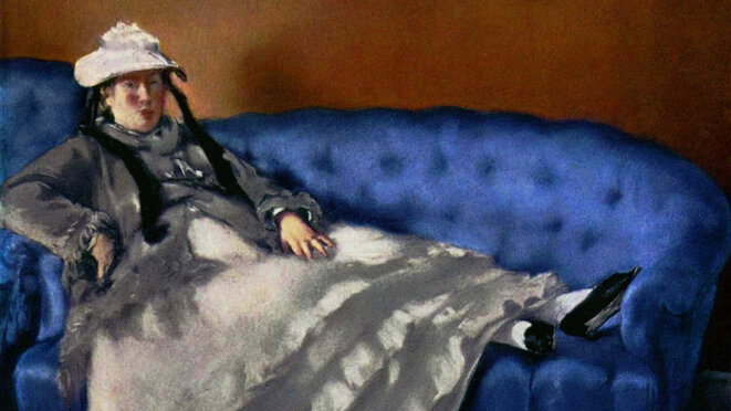 """""""À quoi pense Madame Manet (sur son canapé bleu)"""" d'Hervé Le Roux © Les Films du Paradoxe"""