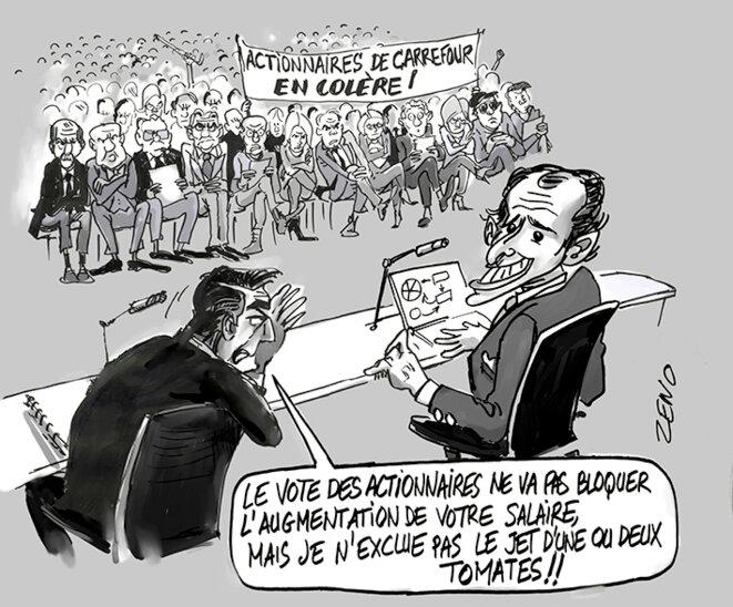 Salaire du PDG de Carrefour bronca des actionnaires © zeno