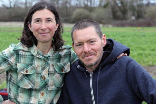 Matthieu Follet et sa compagne, Ana, maraichers dans les Landes