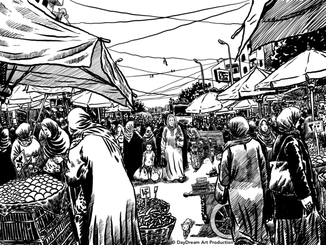 dessin de Mohamed Wahba pour le projet de film de Mohamed Samir © DayDream Art Production