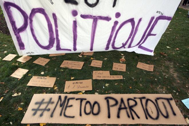 Lors d'un rassemblement à Toulouse, le 29 octobre 2017. © Alain Pitton/NurPhoto