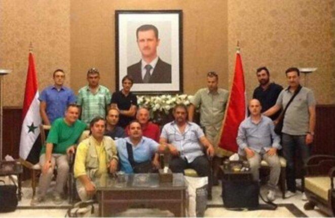 Les fascistes du Front Européen pour la Syrie reçus par les officiels du régime de Bachar el-Assad