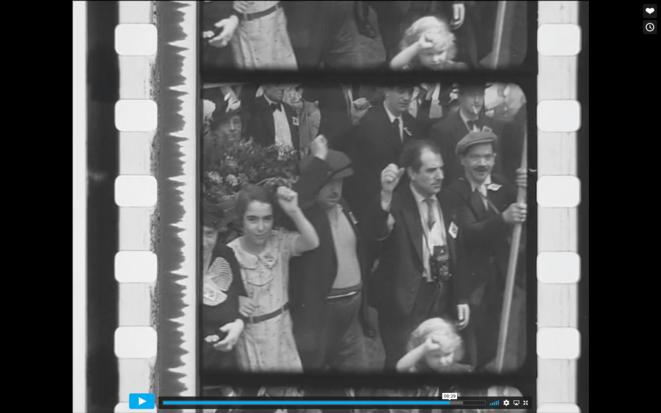 La grandiose manifestation au Mur des Fédérés, le 19 mai 1935