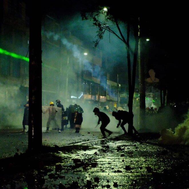 Mai 2021: nuit d'émeutes à Bogota © Nelson Cardenas @cantarranasur